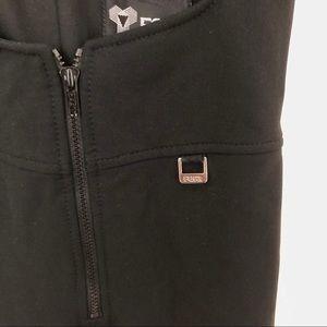Fera Pants - Fera Black Wool Half Zip Ski Snow Jumpsuit